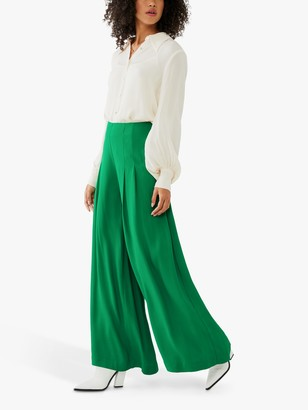 Ghost Kate Palazzo Style Trousers, Bottle Green