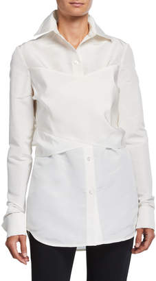 UNTTLD Elena Silk Wrapped Shirt