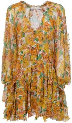 Zimmermann Poppy Frill Billow Mini Dress