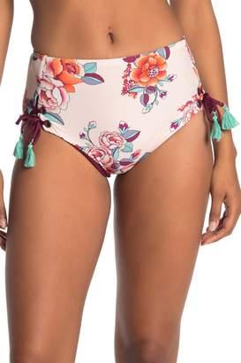Mossimo Printed High Waist Lace-Up Bikini Bottoms