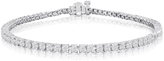 Ice 10K White Gold Classic Cut Diamond Tennis Bracelet