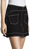 McQ by Alexander McQueen Contrast Stitch Mini Skirt