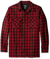 Pendleton Men's Big & Tall Long Sleeve Board Shirt, Red/Dark Red Plaid, LG