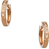 KC Designs Rose Gold and Diamond Mini Hoop Earrings