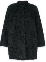 Blugirl metallic detailing midi coat - women - Polyamide/Polyester - 42