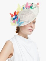Bundle MacLaren Millinery Storm Butterflies Disc Occasion Hat, Ivory/Multi
