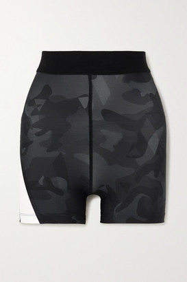 AARMY Juliet Camouflage-print Stretch Shorts - Black