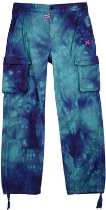 Off-White Tie-dyed cotton cargo trousers