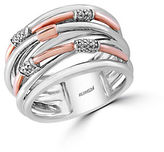 Effy 14K Rose Gold, 925 Sterling Silver and Diamond Ring