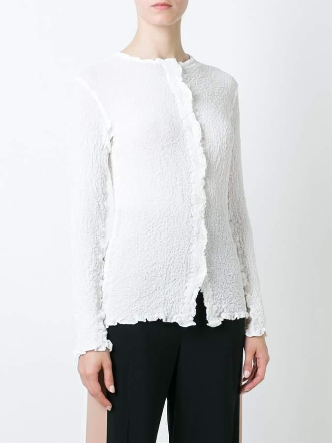 Issey Miyake creased shirt