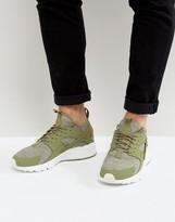 Nike Huarache Run Ultra Trainers In Green 833147-201