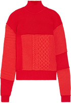 McQ Wool And Cashmere-blend Turtleneck Sweater - Red