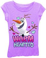 Freeze Frozen Lilac Olaf 'Warm Hearted' Tee - Tween