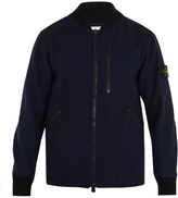 Stone Island Contrast-collar Wool-blend Bomber Jacket