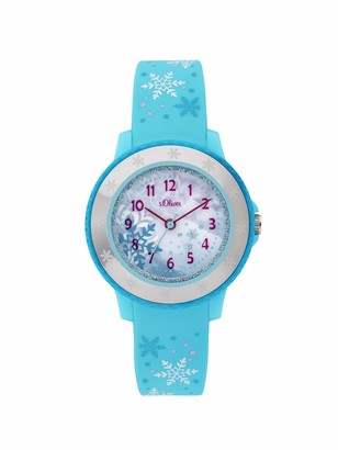 S'Oliver Girls Analogue Quartz Watch with Silicone Strap SO-3913-PQ
