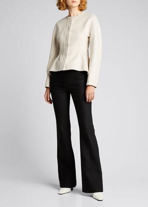 Proenza Schouler Solid Wool-Cashmere Peplum Jacket