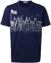 Moncler seaside scene T-shirt - men - Cotton/Acrylic/Polyester - XL