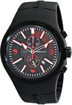 MOMO Design Men's MD1009BK-04BKRD Mirage Chrono Analog Display Swiss Quartz Watch
