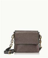GiGi New York Mia Crossbody Anthracite Italian Haircalf