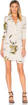 Halston Long Sleeve Shirt Dress