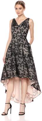 Calvin Klein Women's Embroidered Floral High-Low Dress