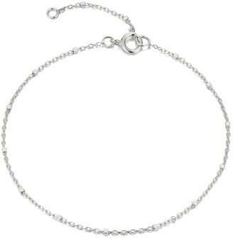 """Seol + Gold Sterling Silver Saturno 6"""" Bead Chain Bracelet"""