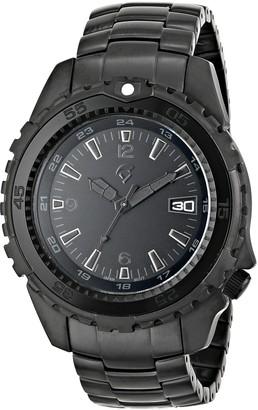 Momentum Men's 1M-DV66B0 Deep 6 Vision Analog Display Japanese Quartz Black Watch