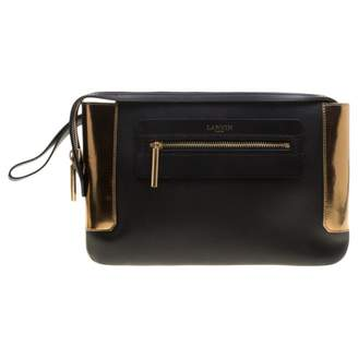 Lanvin Black Leather Clutch bags