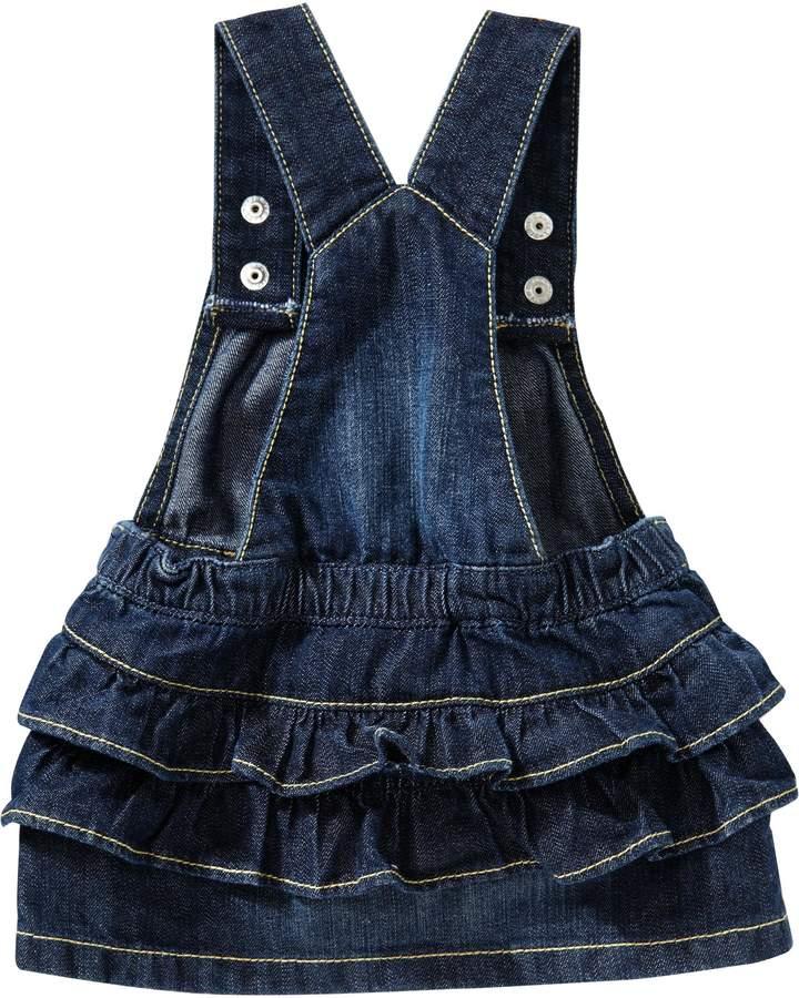 Old Navy Ruffle-Bottom Denim Skirtalls for Baby