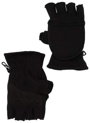 Hawke & Co Fleece Ribbed Convertible Mittens