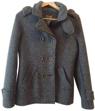 Swiss-Chriss Swiss Chriss Grey Wool Coat for Women