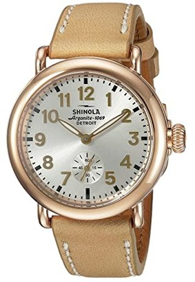 Shinola Detroit The Runwell 36mm - 10000246 (Silver/Natural) Watches