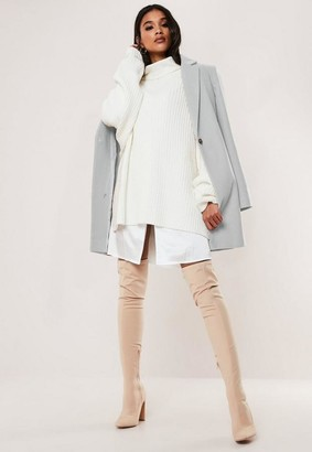 Missguided Gray Formal Coat