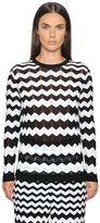M Missoni Cotton Viscose Zig Zag Knit Sweater