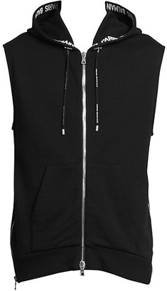 Balmain Hooded Side Zip Vest