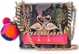 Sophia Webster Claudie embellished snakeskin cross-body bag
