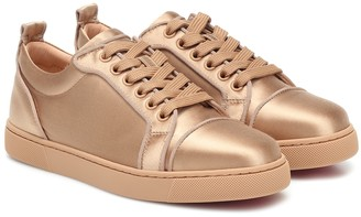 Christian Louboutin Louis Junior silk-satin sneakers