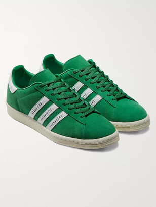 Adidas Consortium + Human Made Campus Leather-Trimmed Suede Sneakers