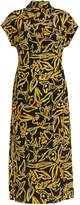 Diane von Furstenberg Elsden-print high-neck silk-crepe dress