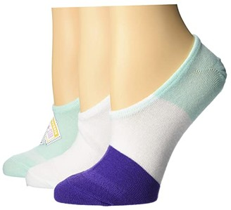 Converse Multi All Star Patch 3-Pair Pack MFC (Ocean Mint Assorted) Women's Crew Cut Socks Shoes