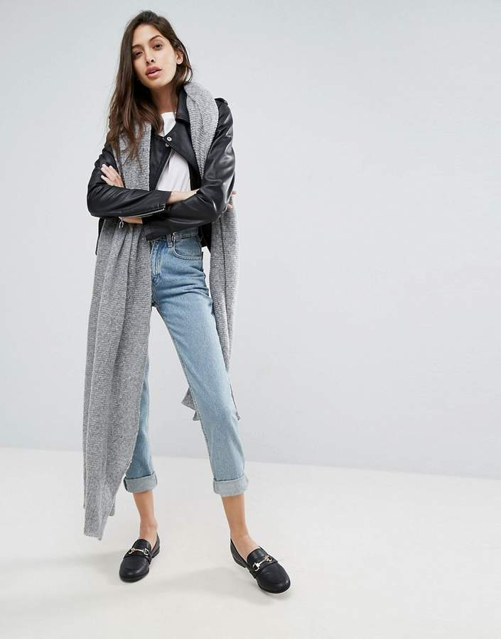 Asos Design Oversized Long Knit Scarf