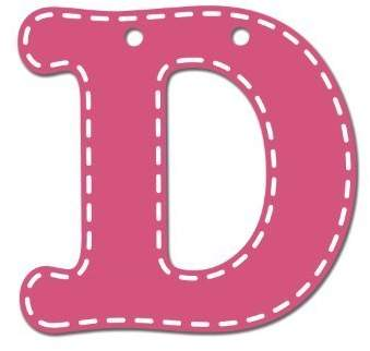 CoCalo Mix & Match Pink Hanging Letter, D by