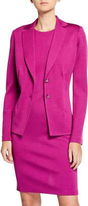 St. John Milano Pintuck Knit Jacket