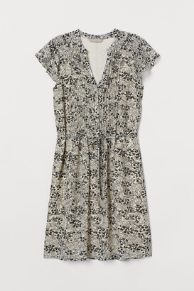 H&M Tie Belt Dress - Beige