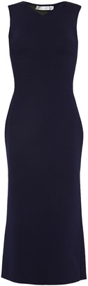 Victoria Beckham Two-tone Stretch-knit Midi Dress