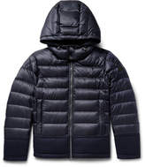 Moncler Riom Wool-trimmed Quilted Shell Jacket - Navy
