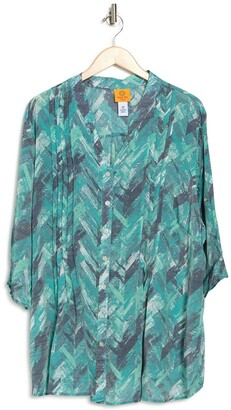 Ruby Rd Textured Chevron Top