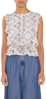 Moon River Paisley Sleeveless Top