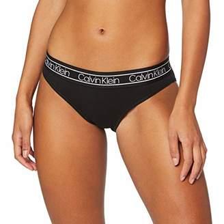 Calvin Klein Women's Bikini Thong, Black 001), (8 (Manufacturer size: )
