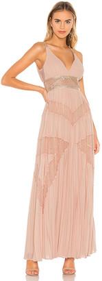 BCBGMAXAZRIA Eve Pleated Gown